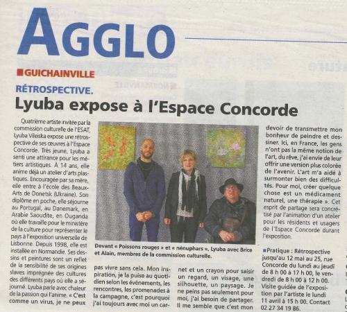 La Dépêche expo Lyuba  01-04-2016.jpg