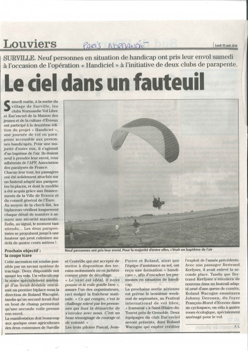 Article Paris Normandie 300810.JPG