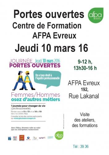 Affichette  Journee Portes ouvertes AFPA EVREUX-10 mars 16.jpg
